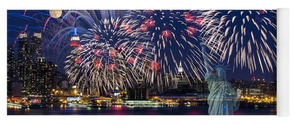 Nyc Fourth Of July Celebration Yoga Mat