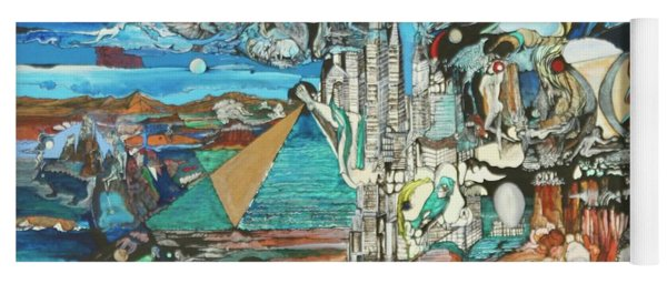 Yoga Mat featuring the painting Nyc Revisited by Richard Van Vliet