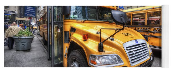 Nyc School Bus Yoga Mat