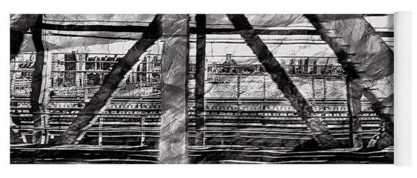 Nyc Train Bridge Tracts Yoga Mat