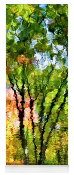 Oak Impressionist Tree Reflection Yoga Mat