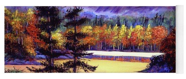 Oak Tree Lake At Sunset Yoga Mat
