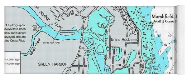 Ocean Bluff And Brant Rock Yoga Mat