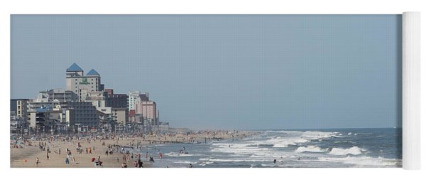 Ocean City Maryland Beach Yoga Mat