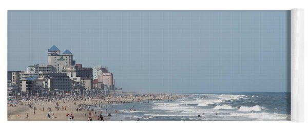 Ocean City Maryland Beach Yoga Mat