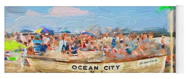 Ocean City Rescue Boat 2 Yoga Mat