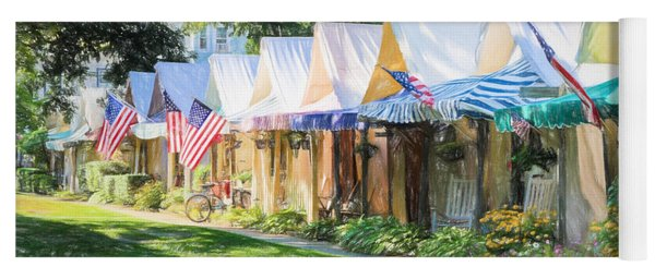 Ocean Grove Tents Sketch Yoga Mat