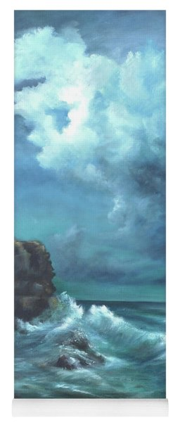 Seascape And Moonlight An Ocean Scene Yoga Mat