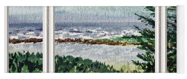 Ocean Shore Window View Yoga Mat
