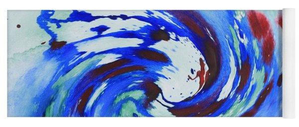 Ocean Wave Watercolor Yoga Mat