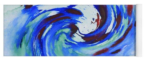 Ocean Wave Watercolor Yoga Mat