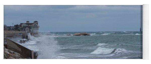 Ocean Waves At Minot Beach Yoga Mat