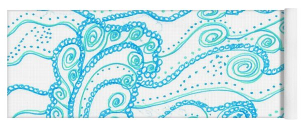 Ocean Waves Yoga Mat
