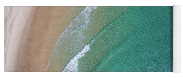 Ocean Waves Upon The Beach Yoga Mat