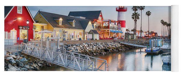 Oceanside Harbor Village At Dusk Yoga Mat