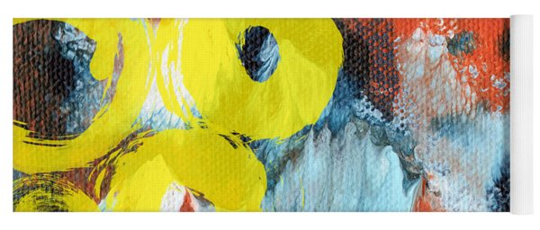 October- Abstract Art By Linda Woods Yoga Mat