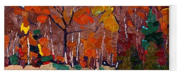 October Forest Yoga Mat