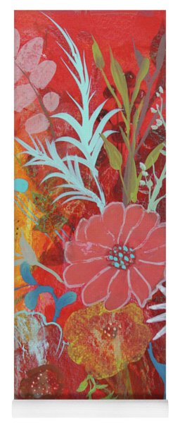 Yoga Mat featuring the painting Ode To Spring by Robin Maria Pedrero