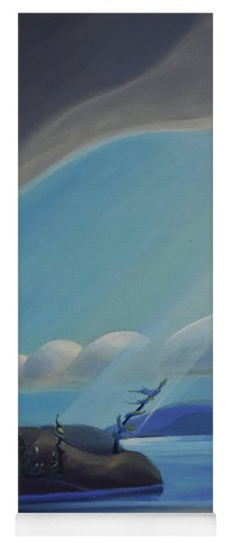 Ode To The North II - Left Panel Yoga Mat