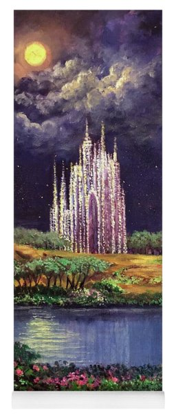 Of Glass Castles And Moonlight Yoga Mat
