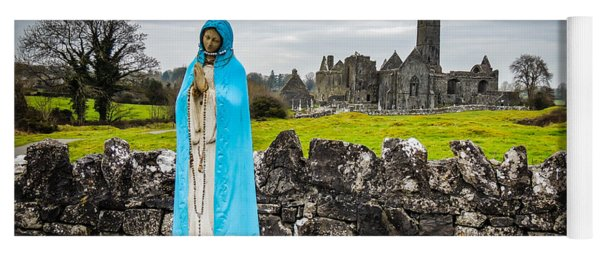 Official Greeter At Ireland's Quin Abbey National Monument Yoga Mat