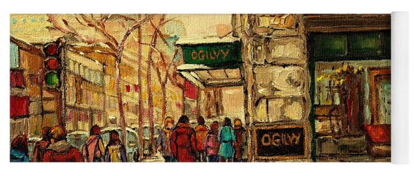 Ogilvys Department Store Downtown Montreal Yoga Mat