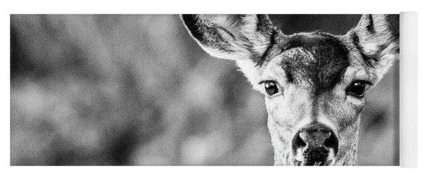 Oh, Deer, Black And White Yoga Mat