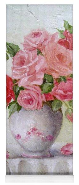 Oil Vase Rose Yoga Mat