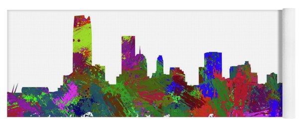 Oklahoma City Skyline Painted Yoga Mat
