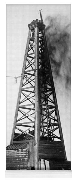 Yoga Mat featuring the photograph Oklahoma: Oil Well, C1922 by Granger