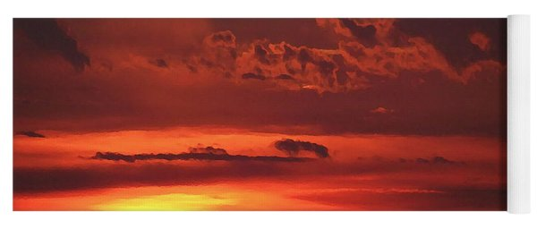 Oklahoma Sky At Daybreak  Yoga Mat