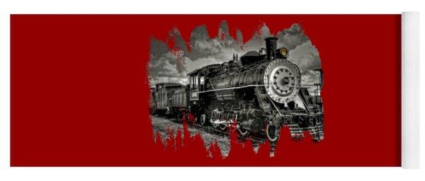 Old 104 Steam Engine Locomotive Yoga Mat