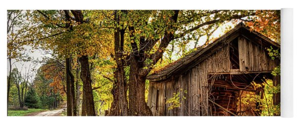 Old Autumn Shed Yoga Mat