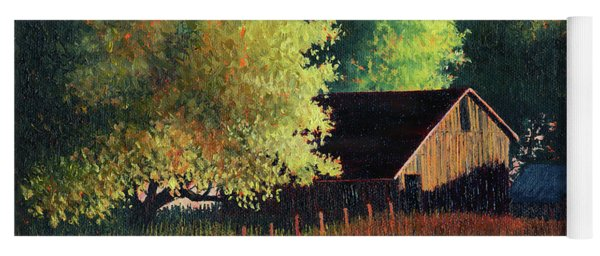 Old Barn At Sunrise Yoga Mat