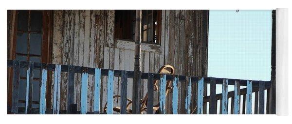 Old Blue Balcony Yoga Mat