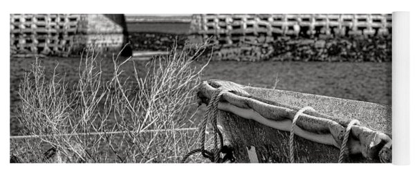 Old Boat At The Cribstone Bridge Yoga Mat