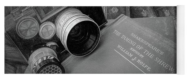 Old Books And Cameras Yoga Mat