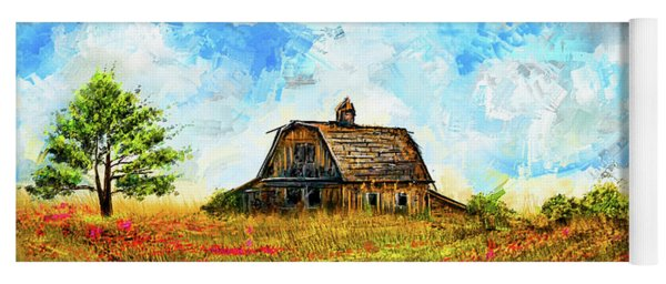 Old But Stately -old Barn Artwork Yoga Mat