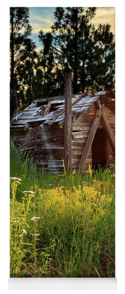 Old Cabin At Sunset Yoga Mat