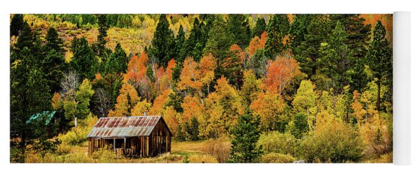 Old Cabin In Hope Valley Yoga Mat