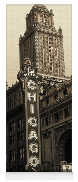 Old Chicago Theater - Vintage Art Yoga Mat