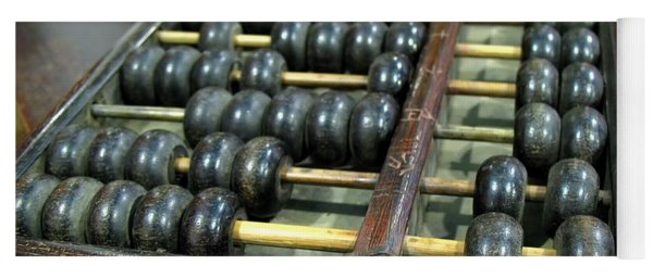 Old Chinese Abacus Yoga Mat