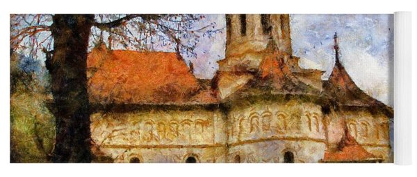 Old Church With Red Roof Yoga Mat
