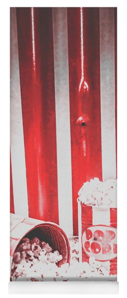 Old Cinema Pop Corn Yoga Mat