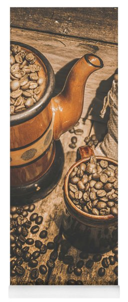 Old Coffee Brew House Beans Yoga Mat