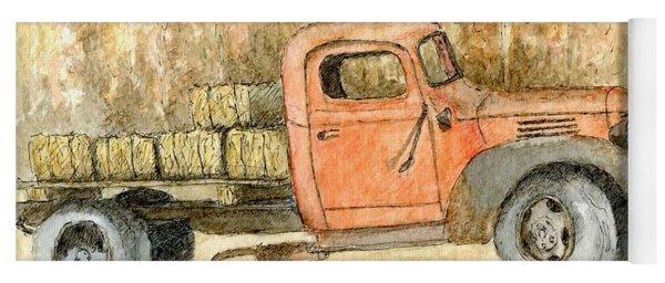 Old Dodge Truck In Autumn Yoga Mat