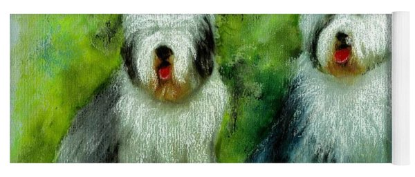 Old English Sheepdog Yoga Mat
