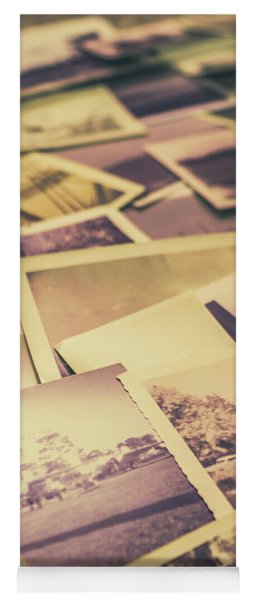 Old Faded Film Photography Yoga Mat