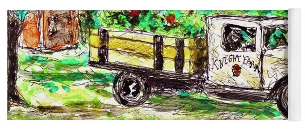 Old Farming Truck Yoga Mat