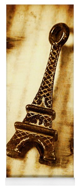 Old Fashion Eiffel Tower Souvenir Yoga Mat